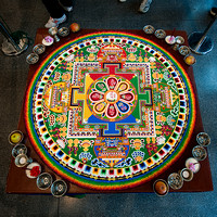 2011 Sand Mandala at Sallis Benney Gallery, Brighton. Saturday 8th October