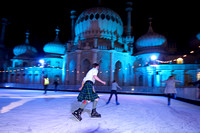 Royal Pavilion Ice Rink opens, Brighton, November 10th 2011