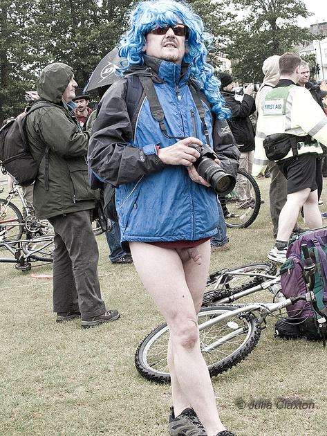 JuliaArts at Brighton Naked Bike Ride 2013