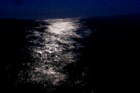 See the light: Moonlight on Water I. Rough Passage on a Circumnavigation of West Pier, Brighton, at Night